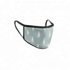 Fashion face mask hare duck egg blue
