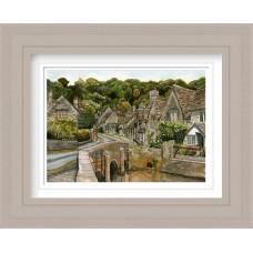 Castle Combe Print Framed Maine