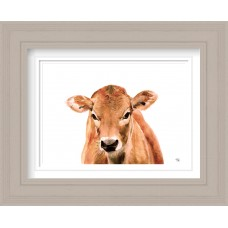 Jersey Cow Print Framed Maine