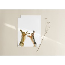 Hares Boxing Print New