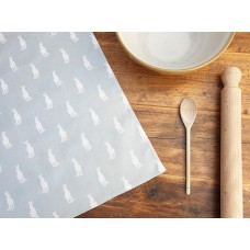 Hare Tea Towel Duck Egg Blue