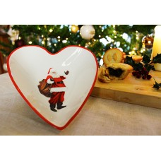 Santa Claus Christmas Heart Bowl