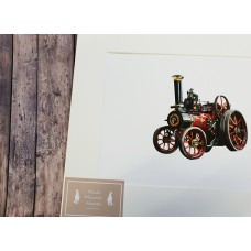 Burrell Patent Engine Mounted Print A4