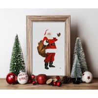 Santa Claus Print (frame not included)