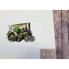 Wallis and Steevens Tractor Mounted Print A4